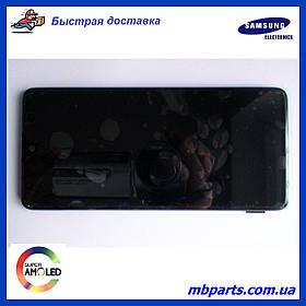 Дисплей з сенсором Samsung M317 Galaxy M31s чорний, GH82-23774A, оригінал, з рамкою!