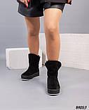 Угги женские замшевые черные, фото 3