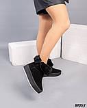 Угги женские замшевые черные, фото 5