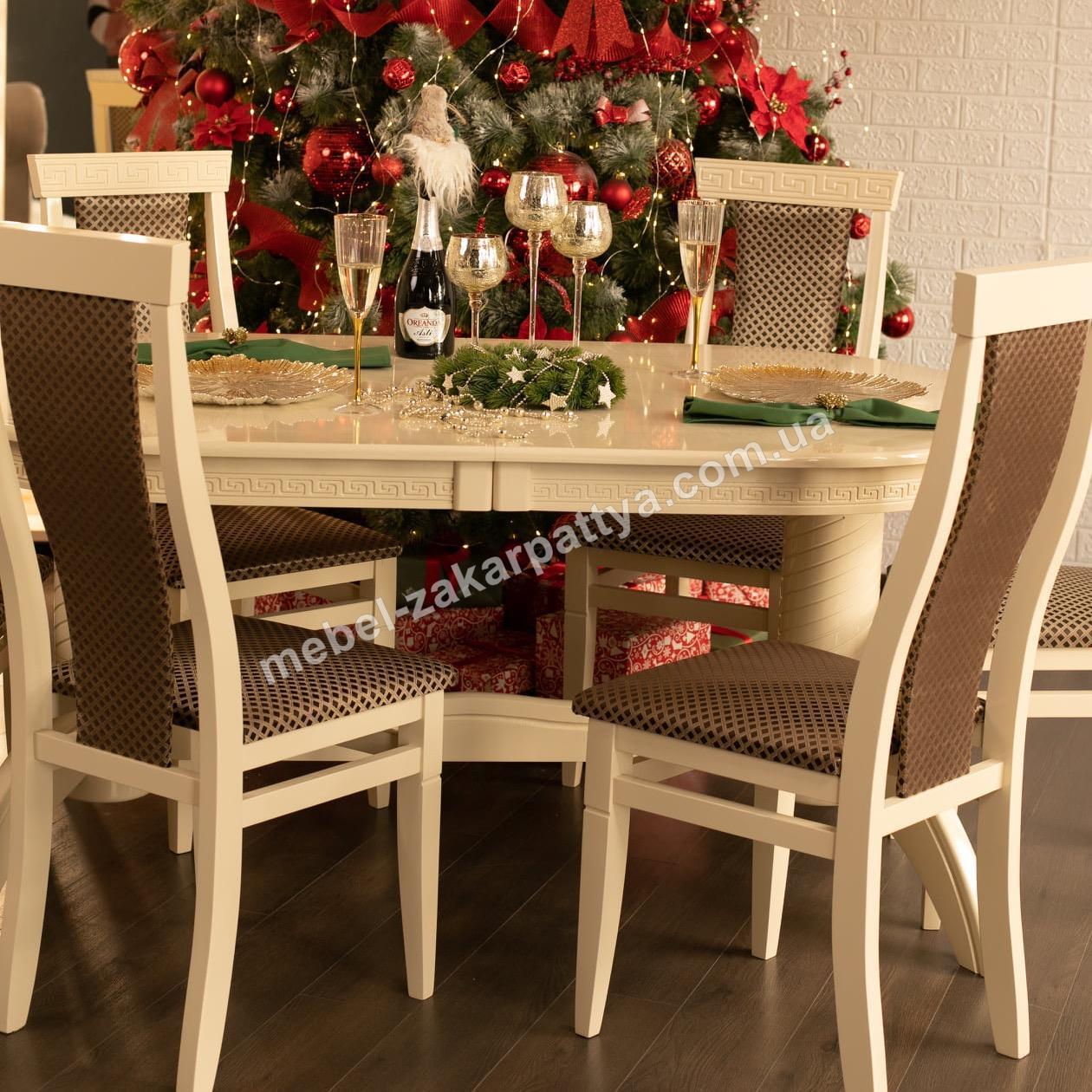 Комплект обідній стіл Діан стільці Сільвія