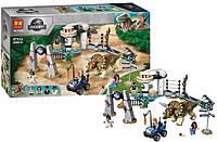 Конструктор аналог Лего Нападение динозавра Трицератопса, 471 деталь, 11336