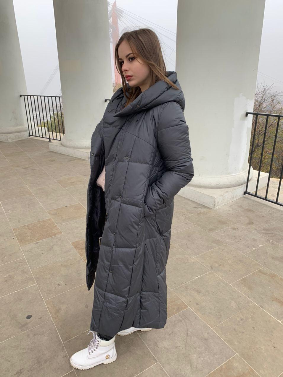 Пуховик пальто женский  Delfy 19-058-19