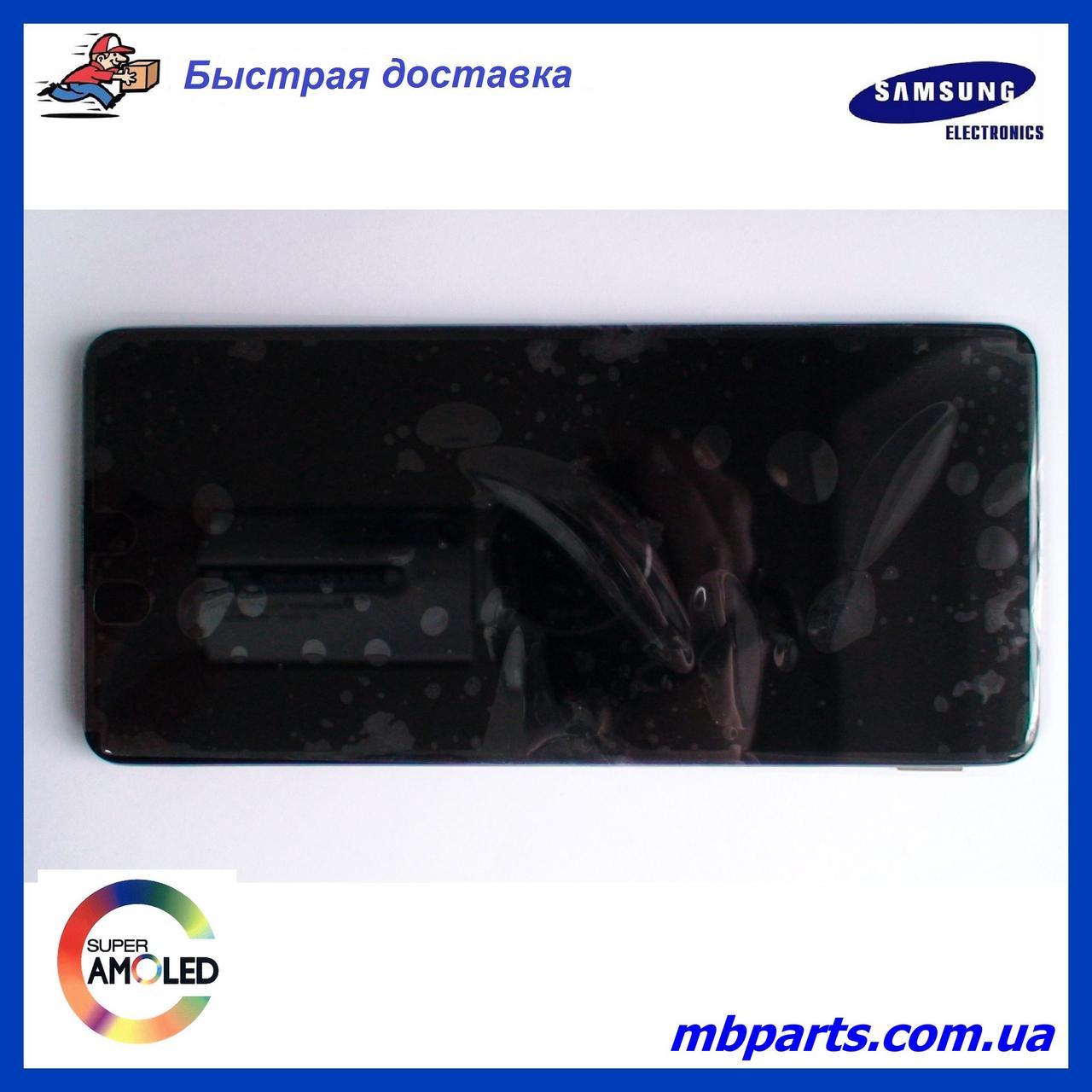 Дисплей с сенсором Samsung M515 Galaxy M51 чёрный,  GH82-23568A, оригинал с рамкой!