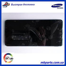 Дисплей з сенсором Samsung M515 Galaxy M51 чорний, GH82-23568A, оригінал з рамкою!