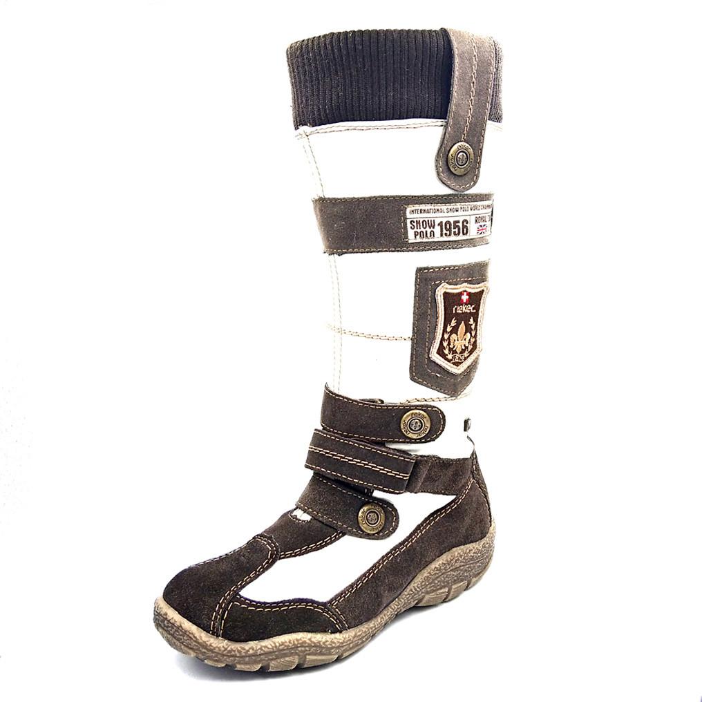Зимние детские ботинки Reiker К1272-80, белые, 31 р.