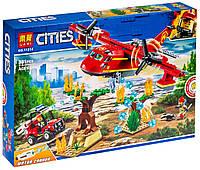 """Конструктор """"CITIES"""" """"Пожежний літак"""" 381дет. 11214 р.41*28*6,5см, шт, фото 1"""