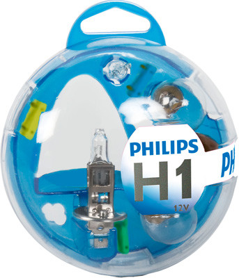 Автолампа галогенова PHILIPS H1  ESSENTIAL BOX KIT