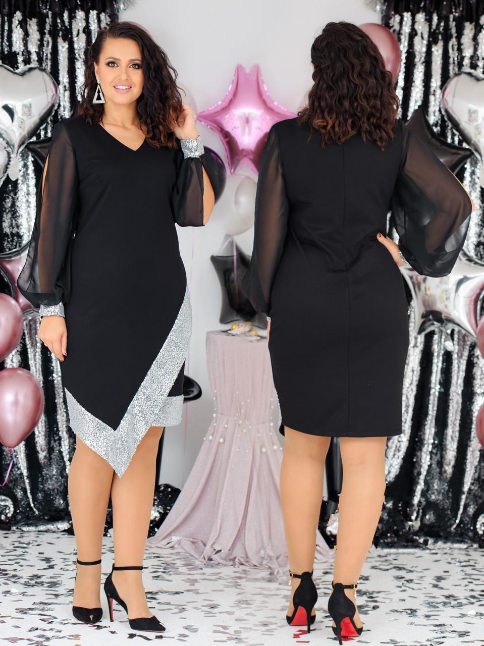Нарядные платья большие размеры (размеры 54-58)