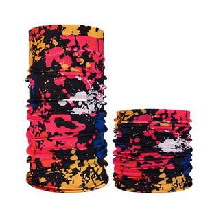 Бафф бандана-трансформер, шарф из микрофибры, 12 клякса