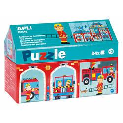 Пазл-виммельбух «Пожежна станція» Apli kids (24 елемента)