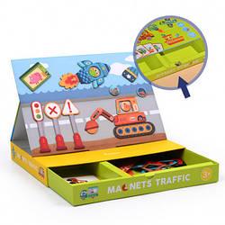 """Магнитная книга """"Транспорт"""" MiDeer Toys"""