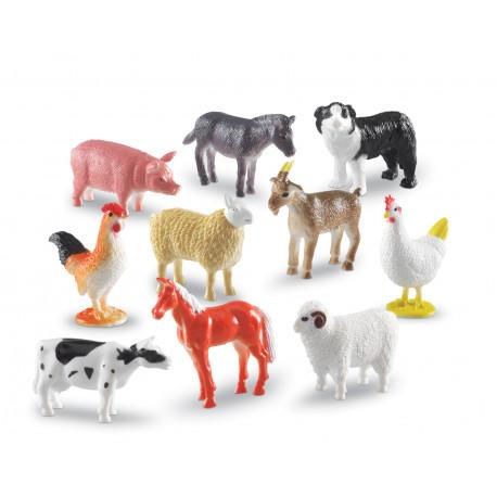 """Набір реалістичних фігурок """"Ферма"""" (10 шт) Learning Resources (10 шт)"""