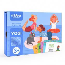"""Дитяча гра для фізичної активності """"Йога"""" з картками Mideer"""
