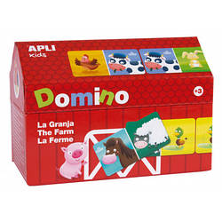 Доміно для малюків «Ферма» 28 елементів Apli kids