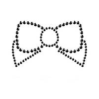 Украшения для груди со стразами MIMI Bow цвет: черный  Bijoux Indiscrets (Испания)