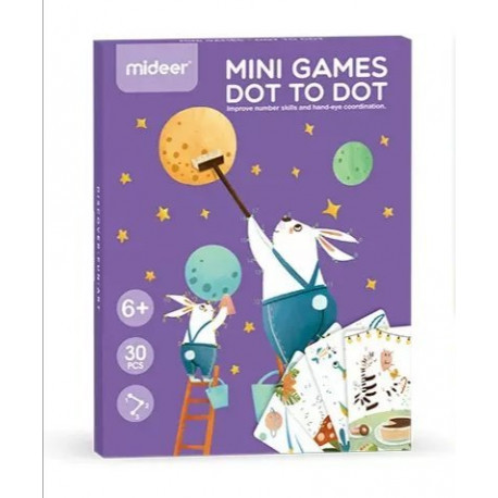 "Набор мини игр ""Рисую по точкам"" Mideer Toys"