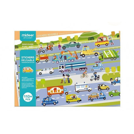 """Многоразовые наклейки """"Транспорт"""" MiDeer Toys"""