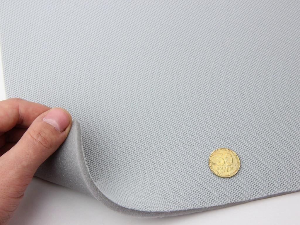 Автоткань оригинальная потолочная tp-0551, цвет серый, на поролоне 5 мм, ширина. 1.40м