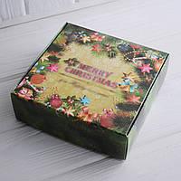 Коробка для сладостей 15х15х5 см. (Рождество), фото 1
