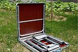 Стол туристический раскладной со стульчиками для пикника, фото 2