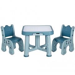 """Дитячий функціональний столик POPPET """"Монохром"""" і два стільчика"""