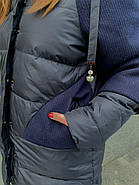 Зимова куртка з капюшоном DOSUESPIRIT 852-8, фото 4