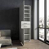 Шкаф для вещей, пенал модульный с полками и ящиками в спальню S-14, фото 2