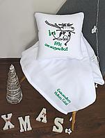 Плед и подушка новогодний комплект, разные рисунки, фото 1