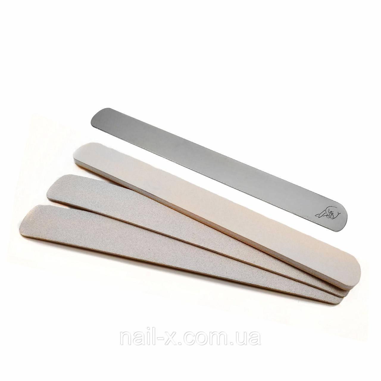 Сменные файлы 240 грит на мягкой прослойке для пилочки прямой Single  (50 шт)