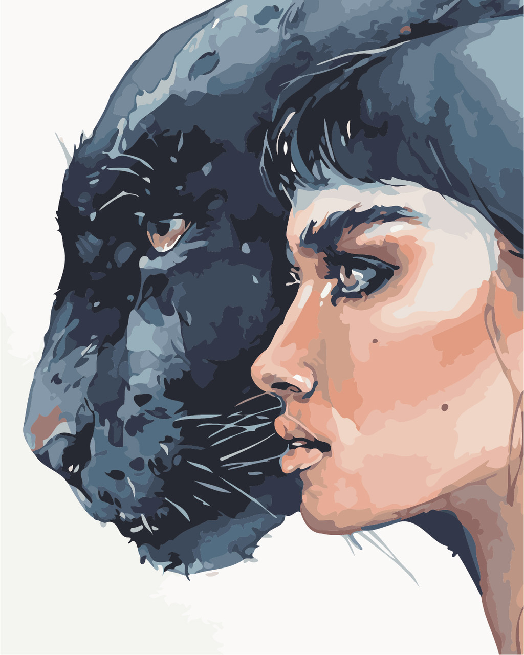 Картина по номерам ArtStory Девушка и пантера 40*50см