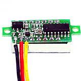 Вольтметр мини 0-100 В зеленый дисплей, фото 4