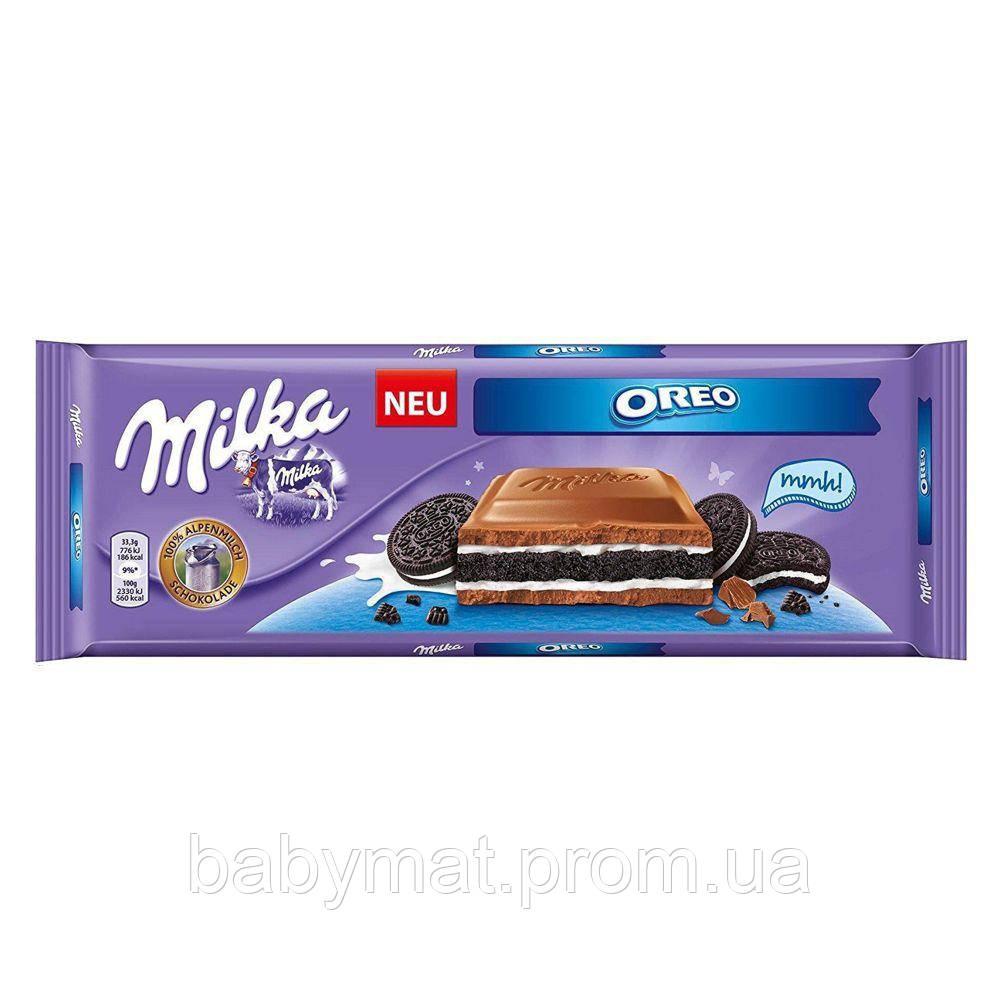 Шоколад молочный Milka  Oreo мегаобъем 300 гр