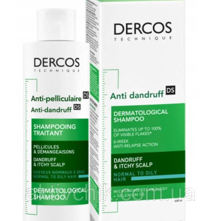 Виши Деркос Интенсивный шампунь-уход против перхоти для нормальных и жирных волос Vichy Dercos 200мл