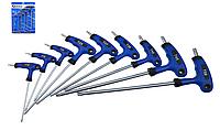 Набір Т-образних ключів TORX (пластикова ручка) 9 одиниць GEKO G30587, фото 1