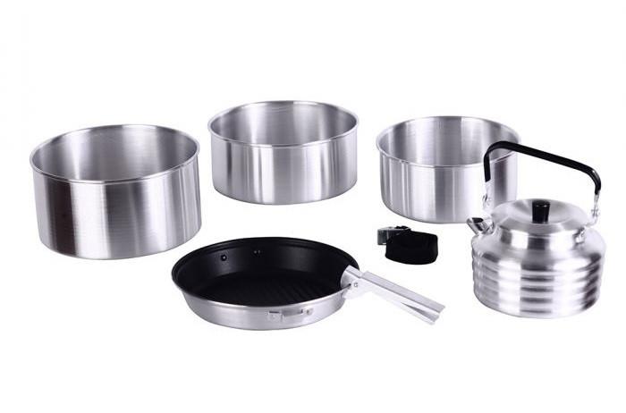 Набір туристичного посуду KingCamp Camper 4(KP3903) (silver)