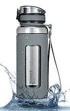 Пляшка для води KingCamp SILICON TRITAN BOTTLE(KA1144) (MEDIUM GRAY)