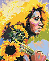 Картина за номерами ArtStory Дівчина з соняшниками 40*50см