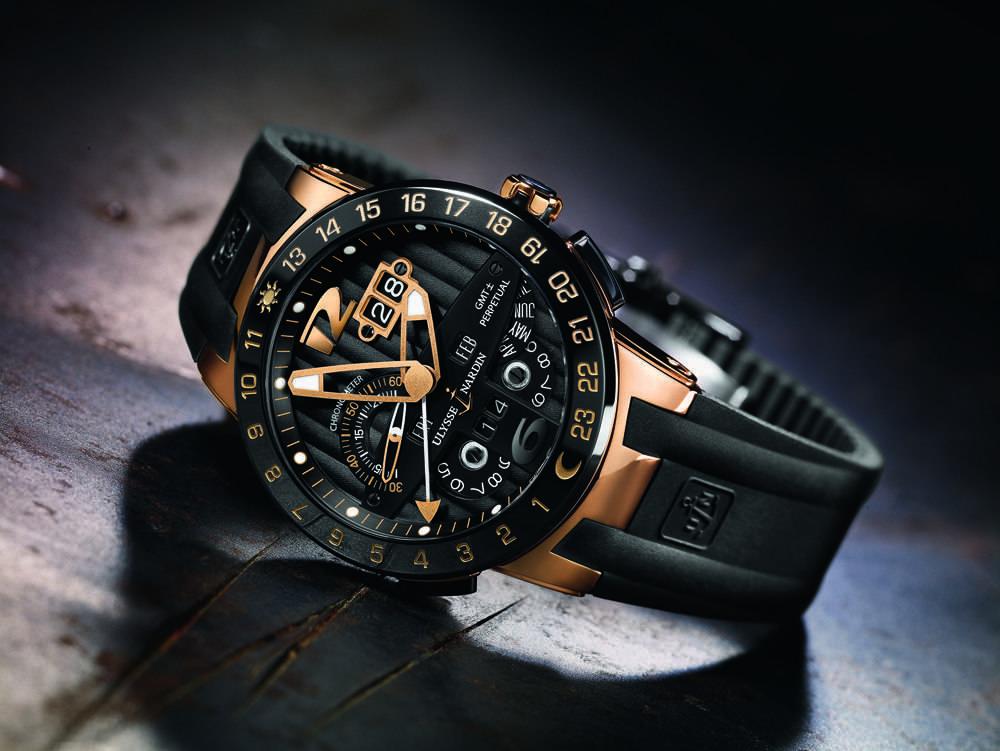 Ulysse Nardin Executive (Black-Gold-Black)