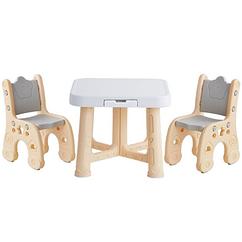 """Дитячий функціональний столик POPPET """"Класик"""" і два стільчика"""