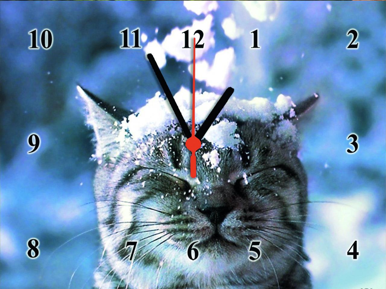 """Настенные часы """"С первым снегом""""  кварцевые"""