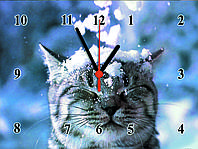 """Настенные часы """"С первым снегом""""  кварцевые, фото 1"""
