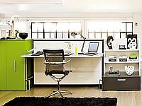 Горизонтально-откидная шкаф-кровать для кабинета или гостиной, фото 1