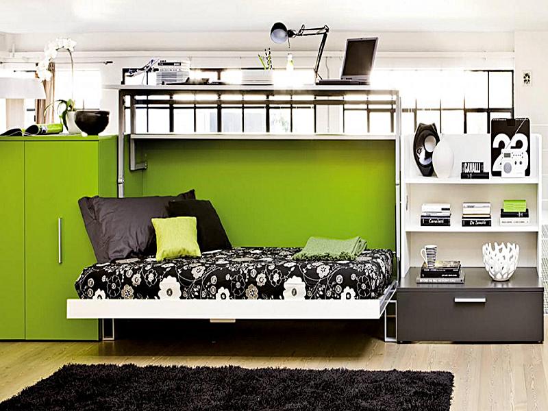 Горизонтально-откидная шкаф-кровать для кабинета или гостиной - фото 3