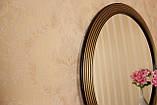 Зеркало в раме черное с золотом в спальню/ Диаметр 990 мм/ Зеркало на стену/Код MD 1.1/4, фото 2
