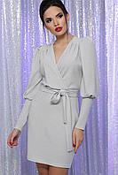 Серебристое вечернее платье из люрекса серебро