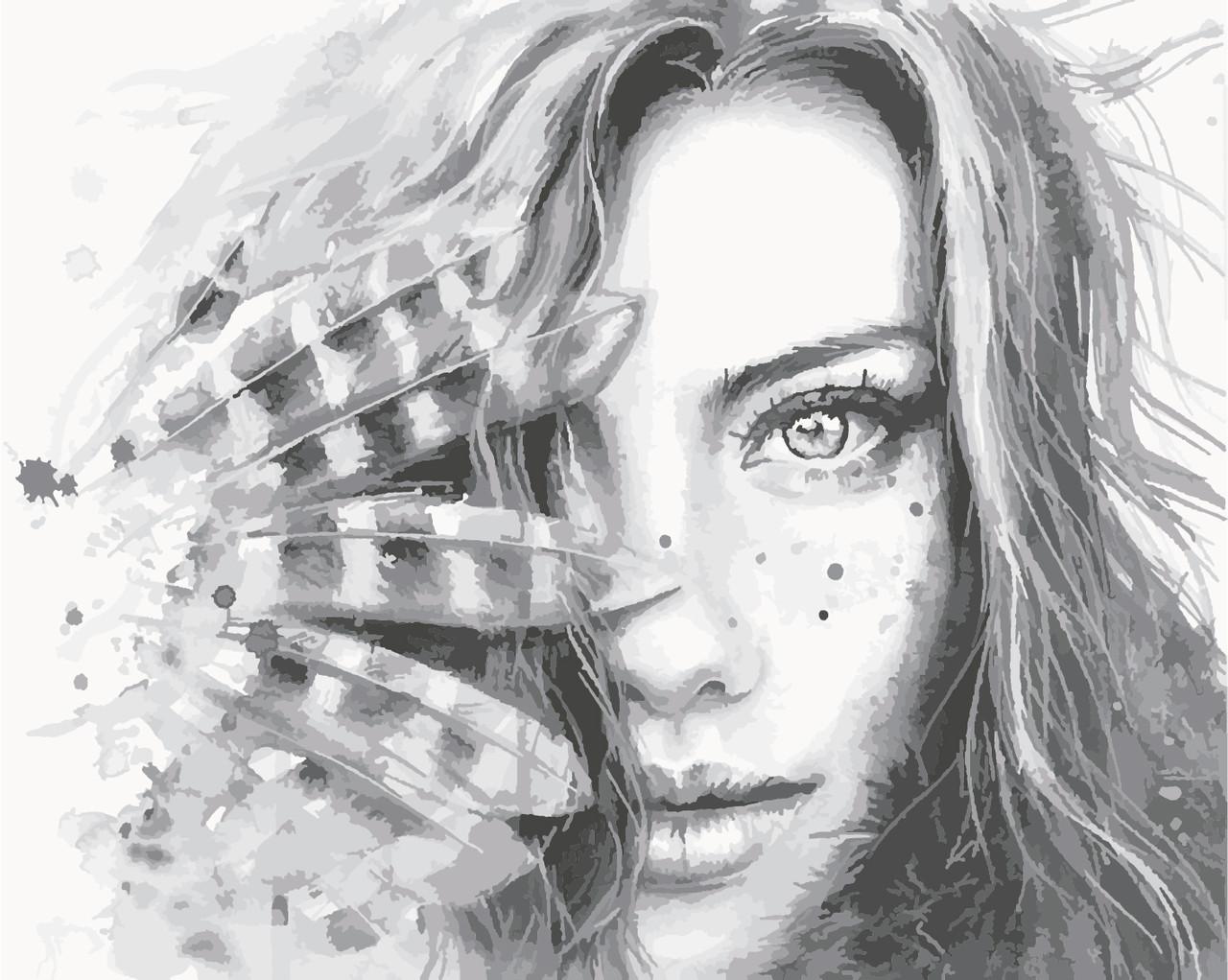 Картина по номерам ArtStory Девушка с перьями 40*50см