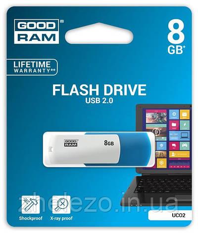 Флеш-накопичувач USB 8GB GOODRAM UCO2 (Colour Mix) Blue/White (UCO2-0080MXR11), фото 2