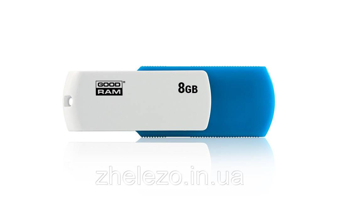 Флеш-накопичувач USB 8GB GOODRAM UCO2 (Colour Mix) Blue/White (UCO2-0080MXR11)