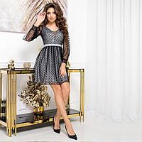 """Плаття стильне жіноче коктейльне сріблясте """"SALUTE"""", фото 1"""