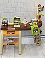Детский супермаркет с тележкой 668-68 касса, сканер для продуктов, кофемашина, стеллажи Т, фото 2